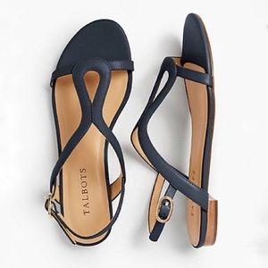 Talbots Women's Keri Keyhole Sandals Soft Leather